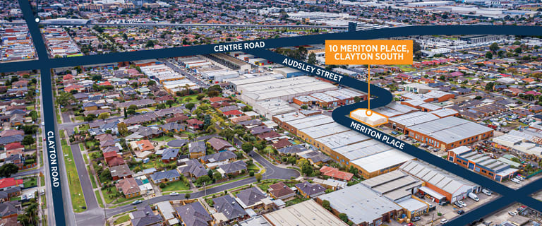 Factory, Warehouse & Industrial commercial property sold at 10 Meriton  Place Clayton South VIC 3169