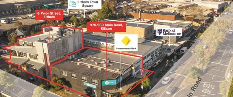 Shop & Retail commercial property for sale at 978-980 Main Road & 6 Pryor Street Eltham VIC 3095