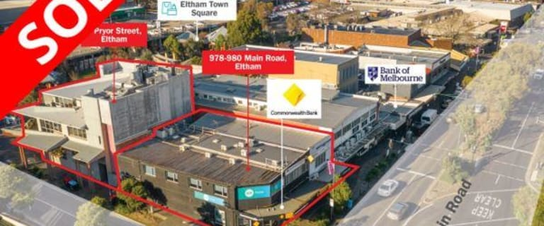 Shop & Retail commercial property sold at 978-980 Main Road & 6 Pryor Street Eltham VIC 3095