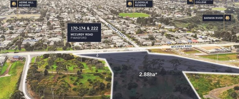 Development / Land commercial property for sale at 170-174 & 222 McCurdy Road Fyansford VIC 3218