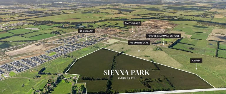 """Development / Land commercial property for sale at """"Sienna Park"""", 1525 Pound Road Clyde North VIC 3978"""