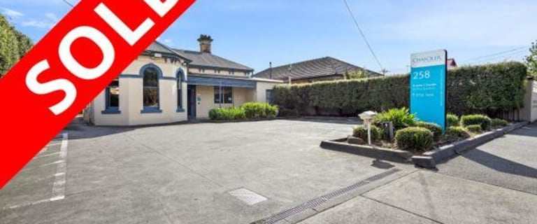 Medical / Consulting commercial property sold at 258 Bell Street Coburg VIC 3058