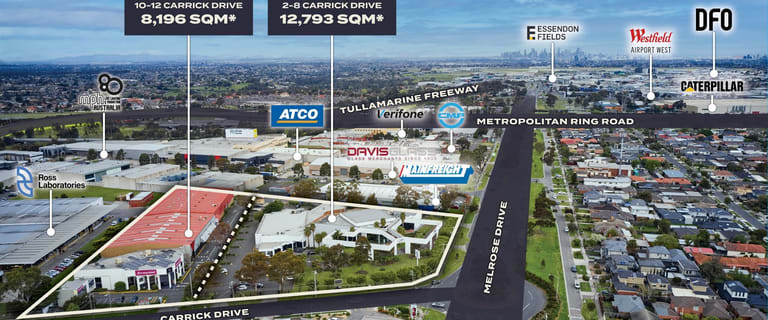 Development / Land commercial property for sale at 2-8 & 10-12 Carrick Drive Tullamarine VIC 3043