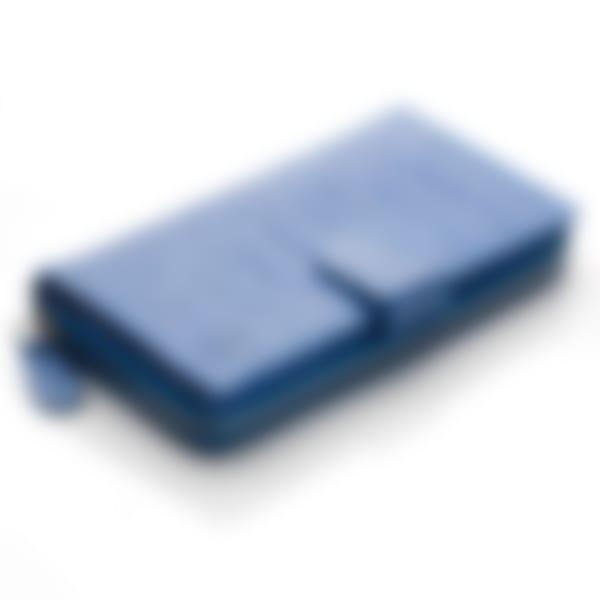 Blue Nile croco leather clutch wallet