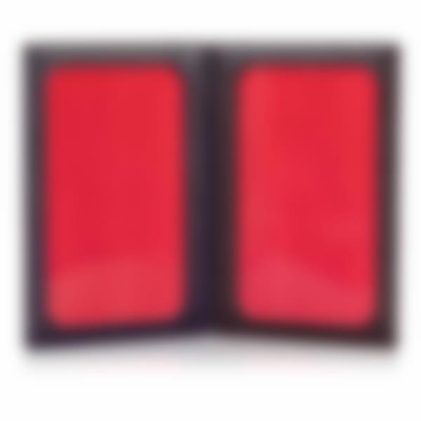 Malvern leather travel photo frame open