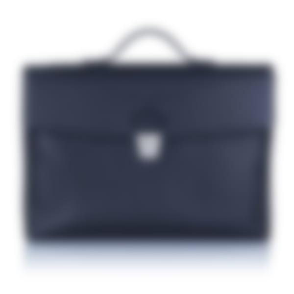 Richmond leather flap over briefcase