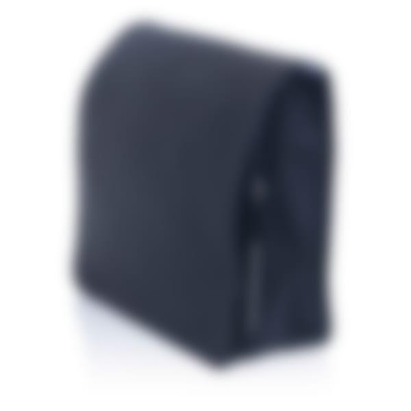 Richmond leather messenger bag side