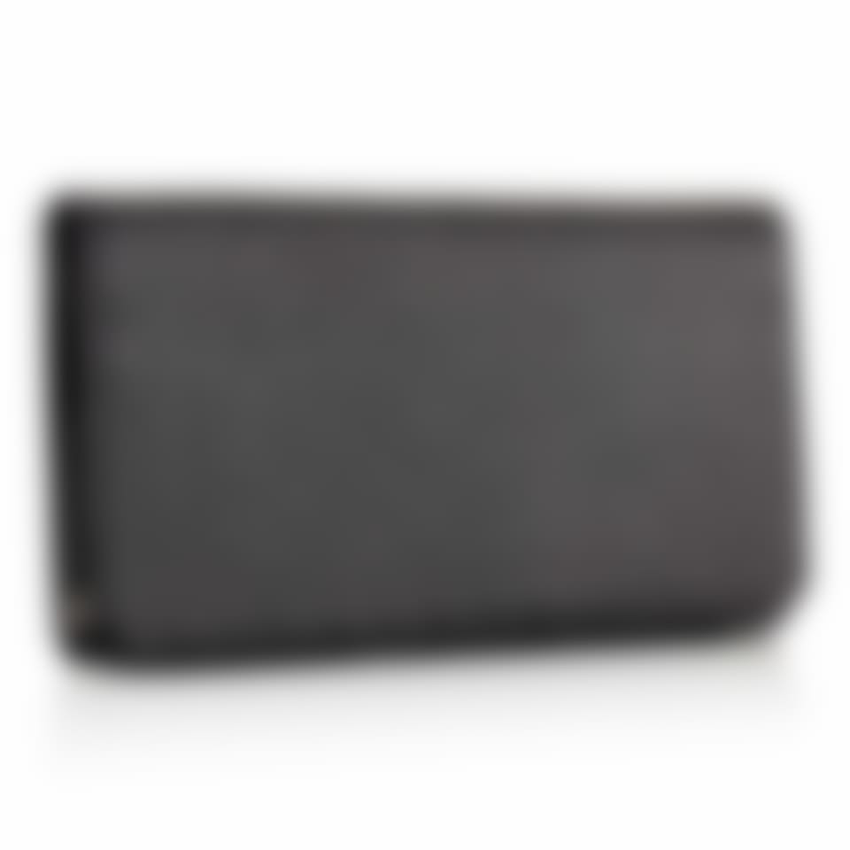 Richmond leather long wallet with zip pocket