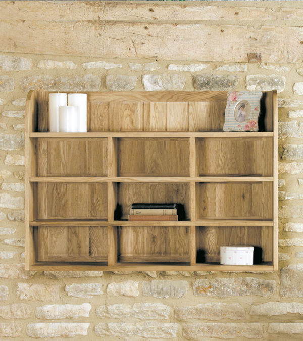Mobel Light Oak Reversible Wall Rack