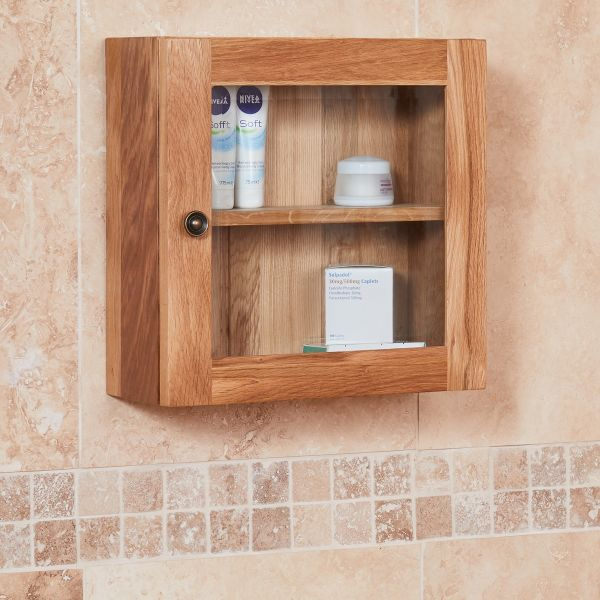 Mobel Oak Single Door Cabinet