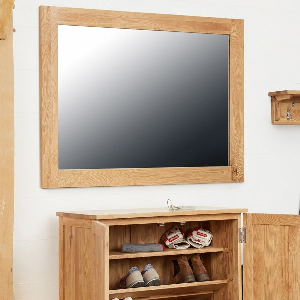 Mobel Oak Medium Wall Mirror