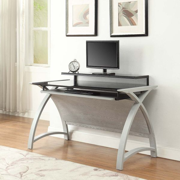 Curve Home Office Grey Ash Desk (130cm)