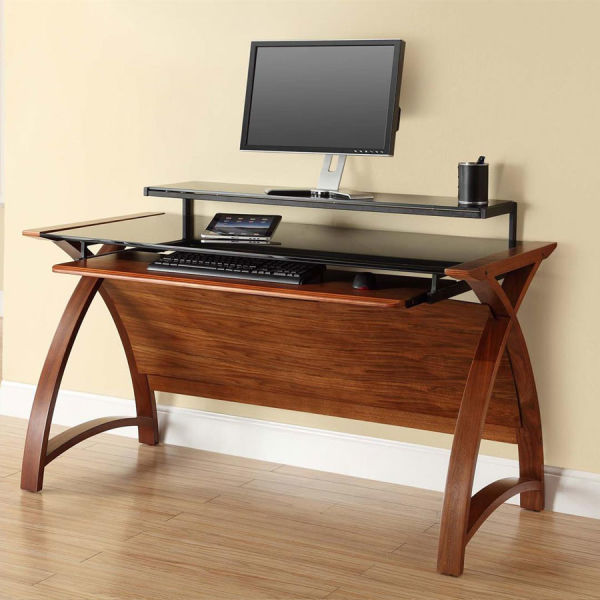 Curve Home Office Large Walnut Desk (130cm)