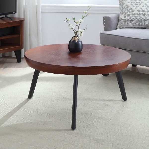San Francisco Round Walnut Coffee Table