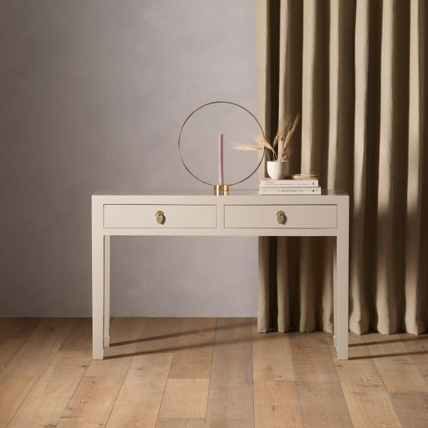 The Nine Schools Qing Oyster Grey Large Console Table