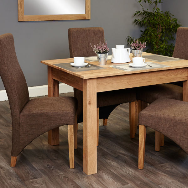 Mobel Oak four seat table and matching hazelnut chairs