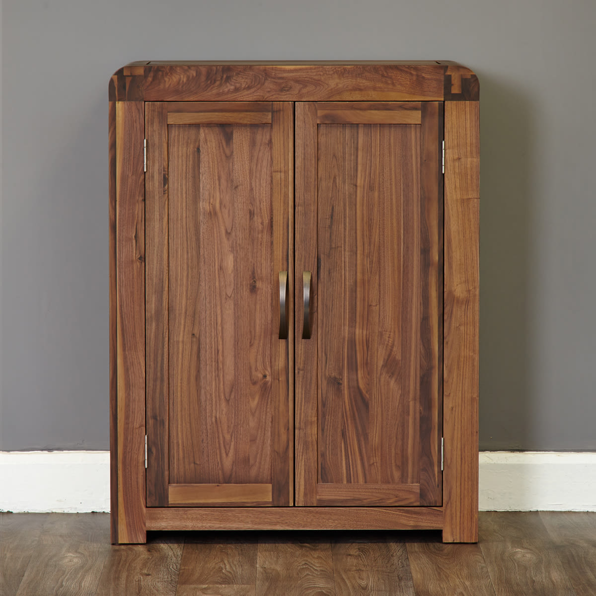 Walnut Wood Furniture ~ Shiro walnut shoe cupboard wooden furniture store