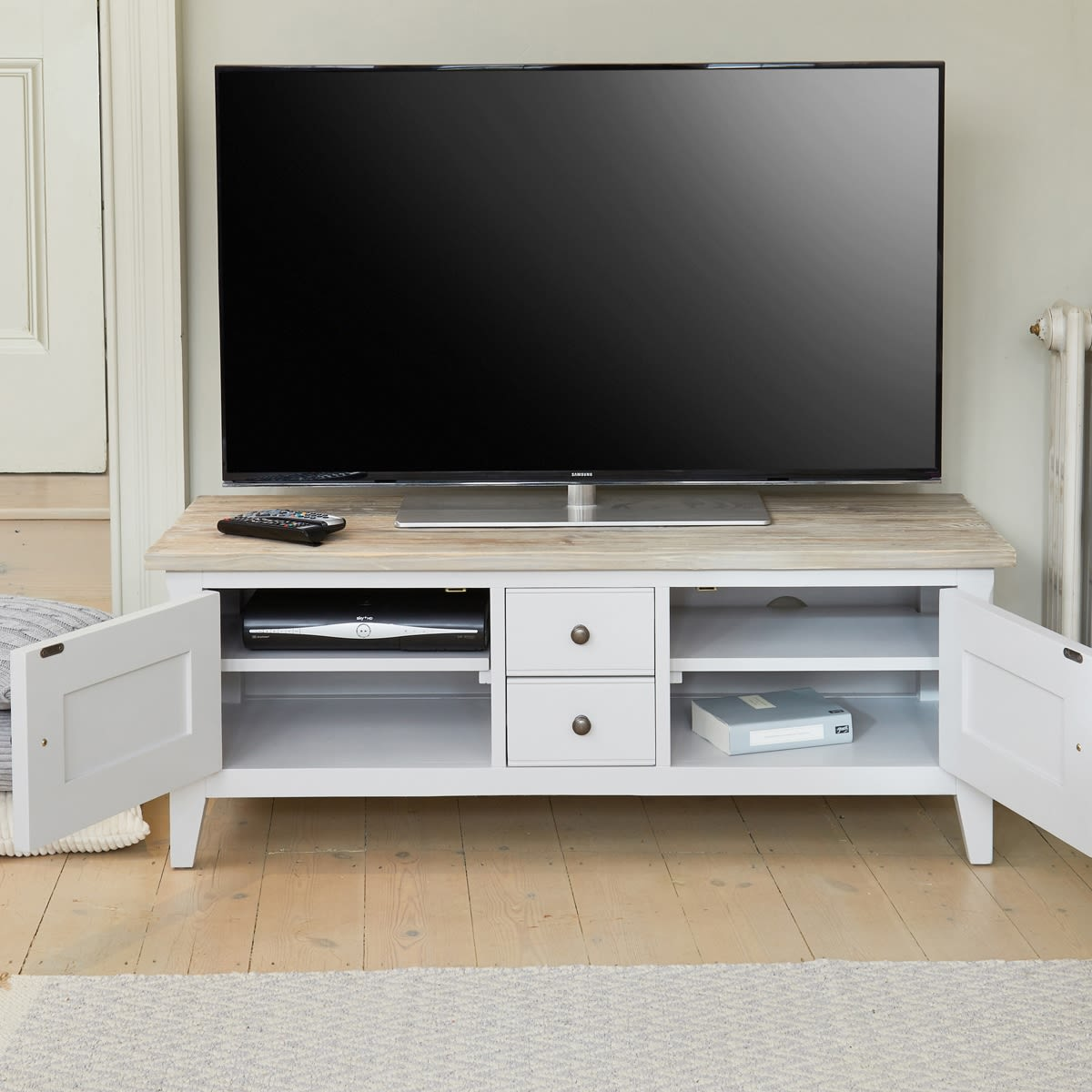 Signature Grey Widescreen Television Stand Was £450.00 Now