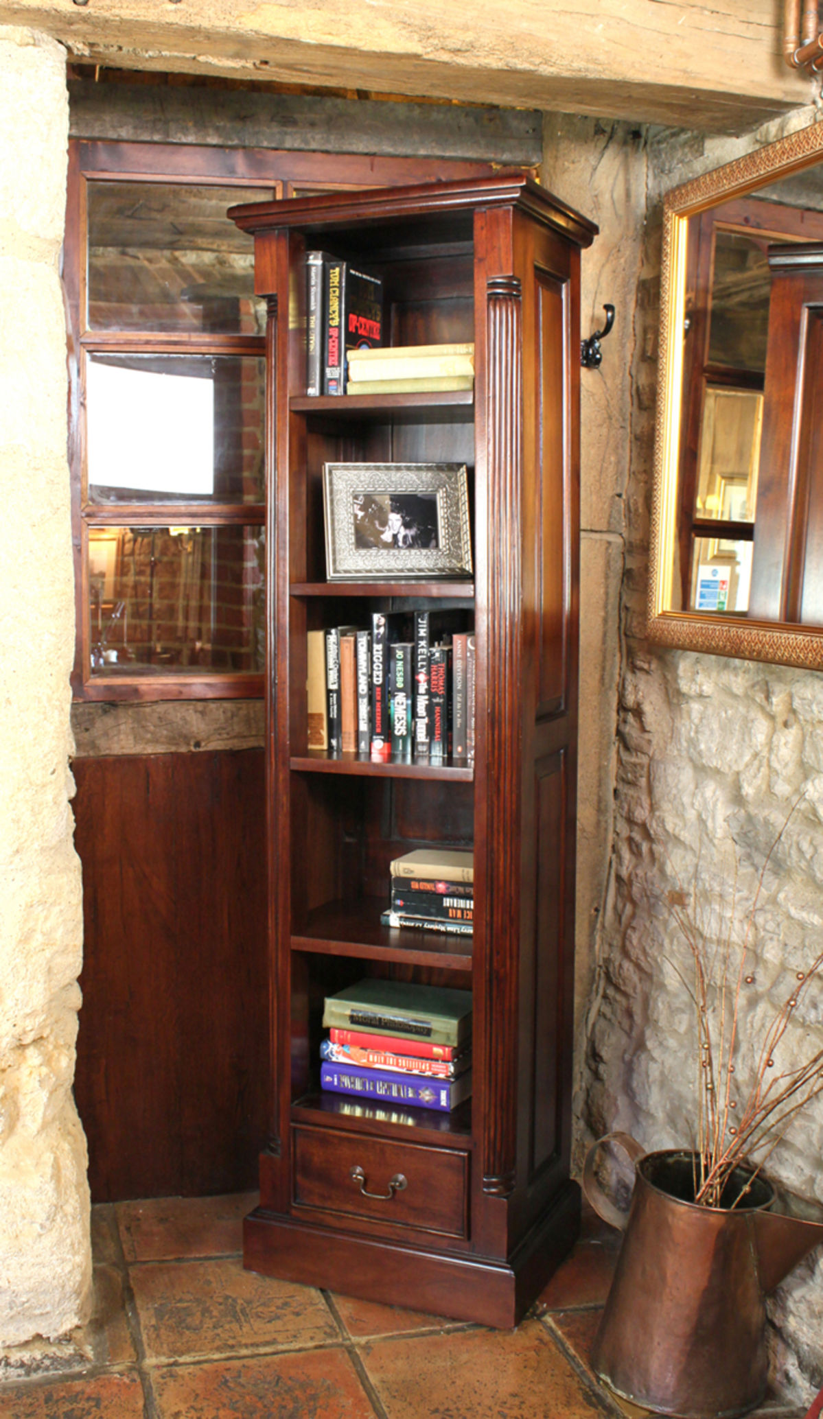 La Roque Narrow Alcove Bookcase Was 163 695 00 Now 163 599 00