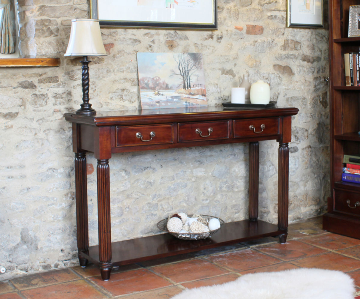 Mahogany La Roque Console Hall Table With Drawers Was 163 515