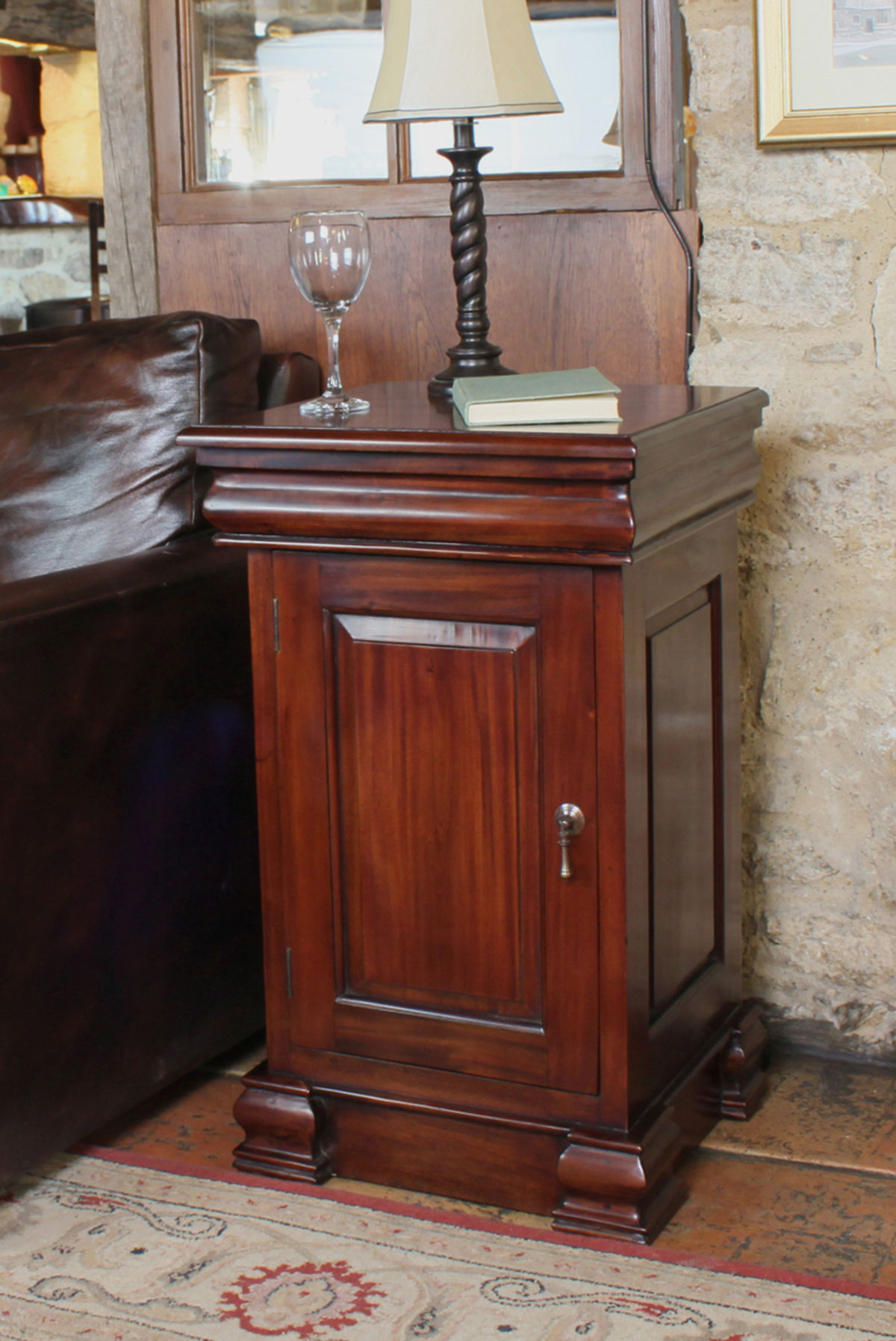 Mahogany lamp table and pot cupboard wooden furniture store geotapseo Gallery