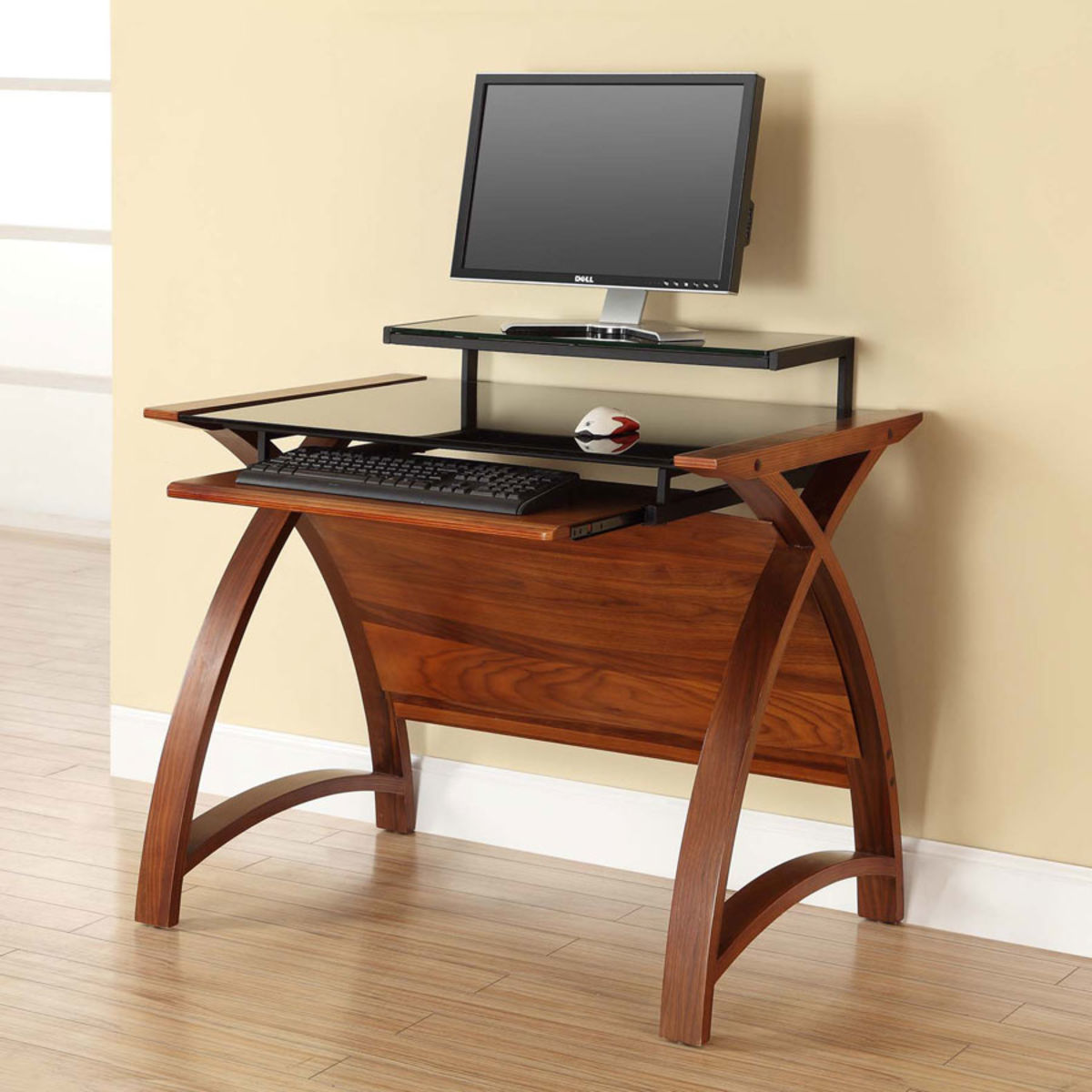 Curve Home Office Walnut Desk (90cm) Was £325.00 Now £269