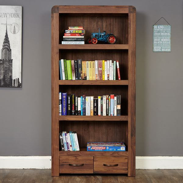 Quick View Shiro Walnut Large Two Drawer Bookcase
