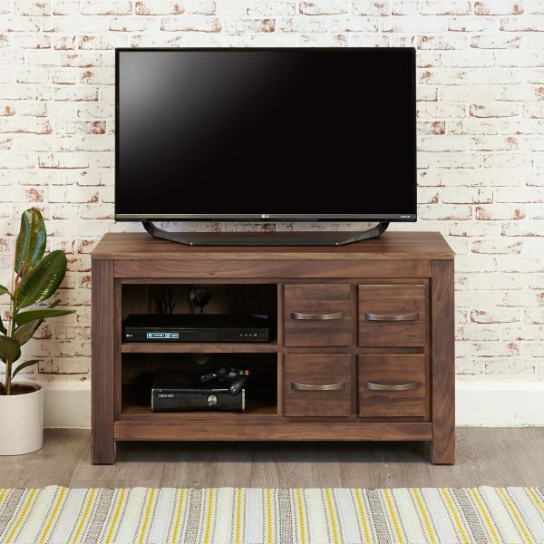 Mayan Walnut 4 Drawer Television Cabinet