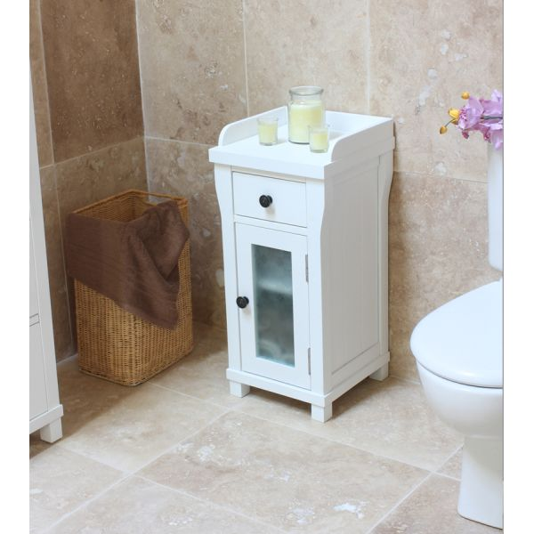 Vermont White Closed Small Bathroom Unit