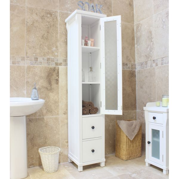 Vermont White Closed Bathroom Unit Tall