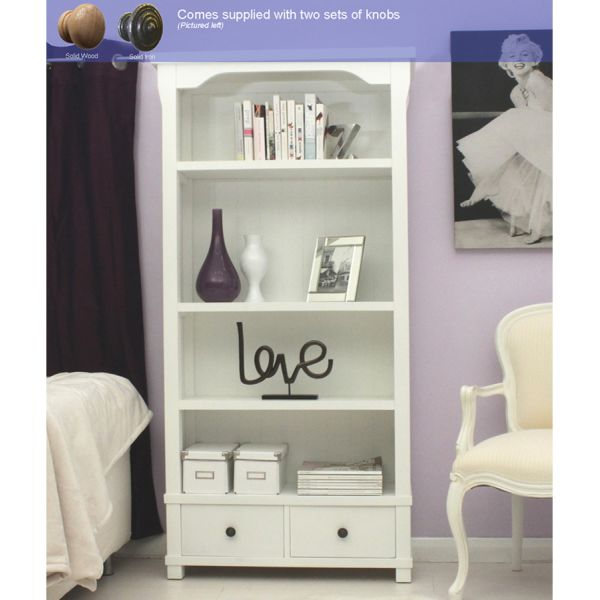 Vermont Large Bookcase with Two Drawers