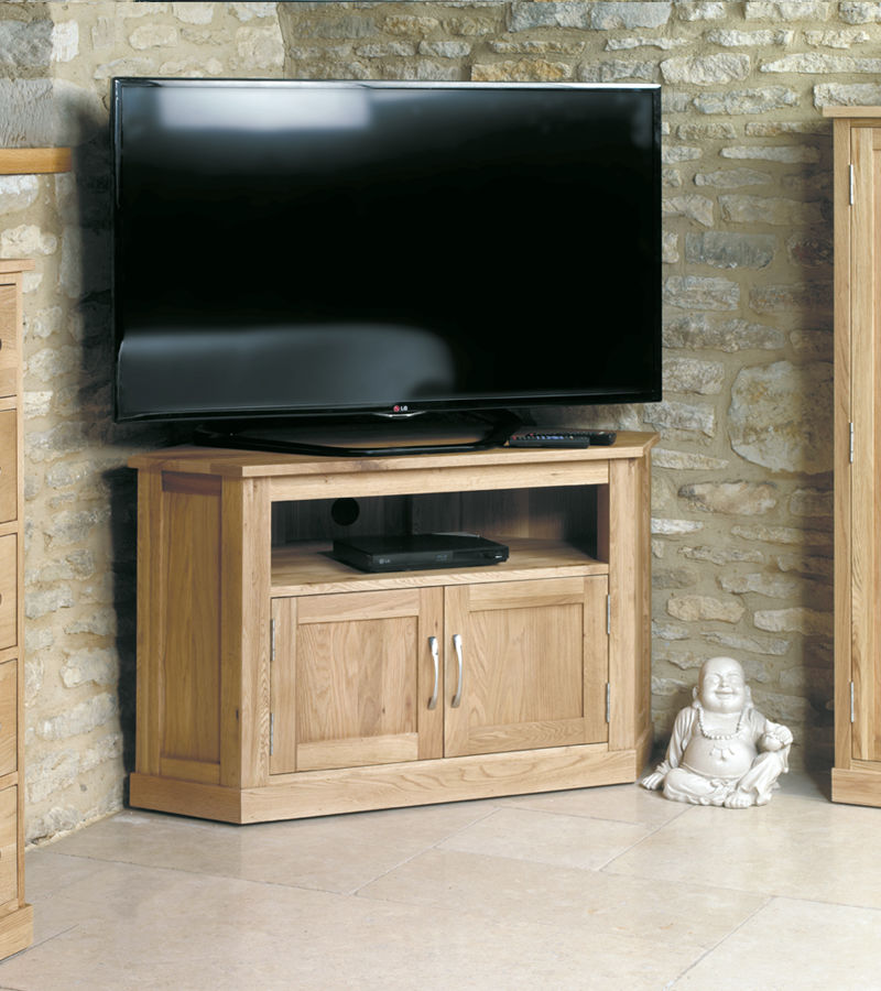 Mobel Oak Corner Television Cabinet Wooden Furniture Store