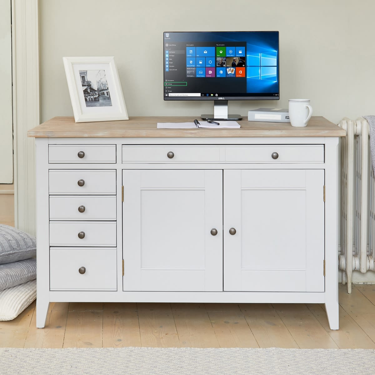 Home Office Sets Office Furniture Elements: Signature Grey Hidden Home Office Desk Was £720.00 Now £