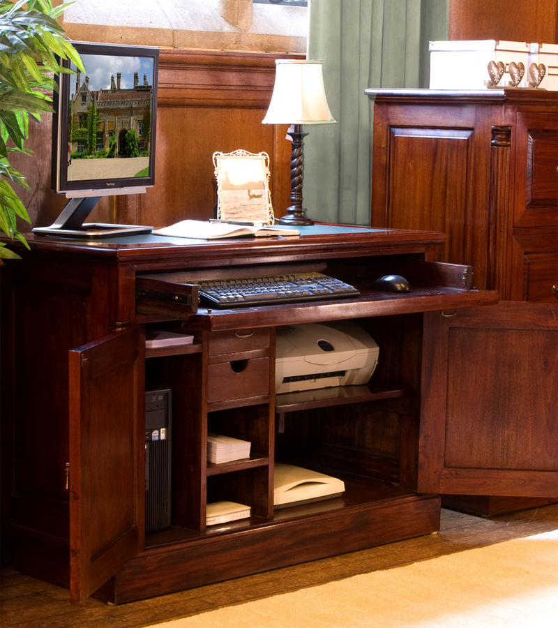 La Roque Mahogany Hidden Home Office Was £840.00 Now £729