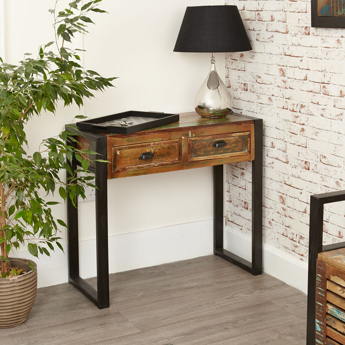Urban chic console table wooden furniture store