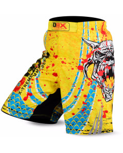 Sublimated Muay Thai MMA Kickboxing Shorts Devil Yellow Print