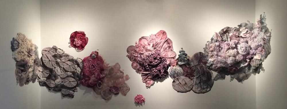 Large silk sculpture installation