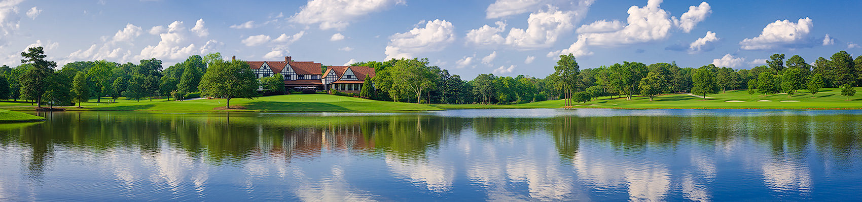<div class='title'>           East Lake Golf Club, Atlanta, Georgia         </div>                 <div class='description'>           The classic clubhouse at East Lake Golf Club, in Atlanta, Georgia, seen from across the lake.         </div>