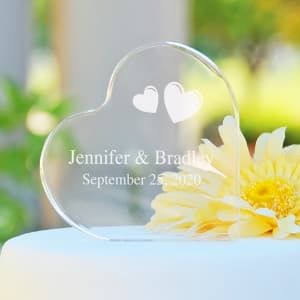 Abounding Hearts Personalized Cake Topper