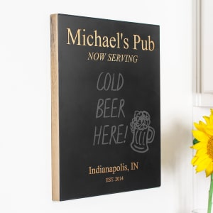 Customized Chalkboard Pub Sign