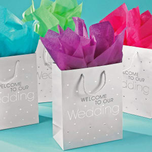 Wedding Welcome Bag with Foil Accents - Pk of 10