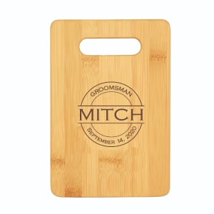 Home Barman's Personalized Bamboo Bar Cutting Board