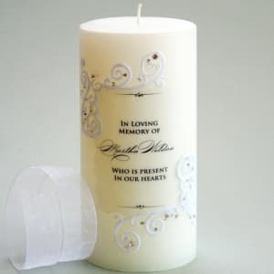 Piazza Lace Memorial Candle