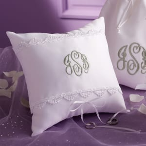 Personalized Wedding Ring Pillow