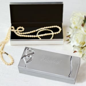 Twin Hearts Jewelry Box