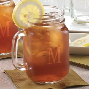 Glass Mason Jar with Handle