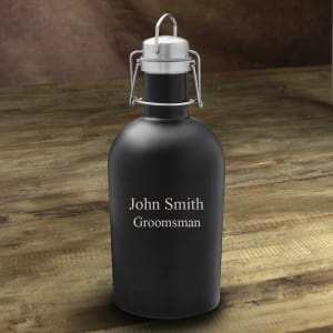 Personalized Matte Black Stainless Steel Growler