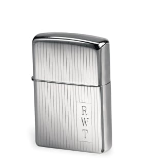 Engraved Engine Turned Zippo Lighter
