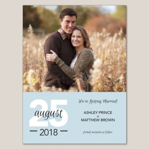 Contemporary Save the Date Magnet