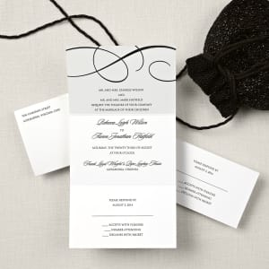 Elegant Scroll Seal and Send Wedding Invitation